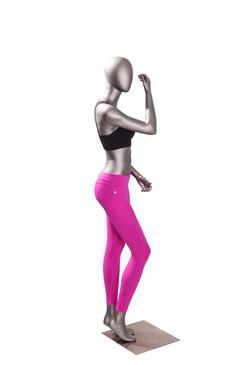 Erin 5, Matte Grey Athletic Female Sports Mannequin MM-JSW05