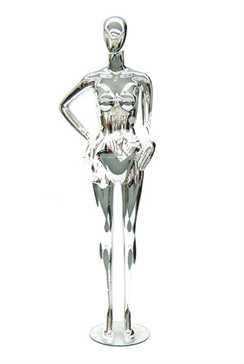 Maddie, Chrome Abstract Female Mannequin MM-PS-A43CM