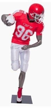 Brady, Football Player Male Mannequin Gloss Grey MM-Brady011