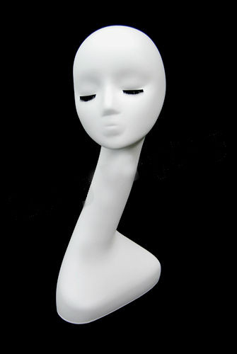 Fiberglass Matte White Female Display Head - MM-#054 (MM-#054) (view)