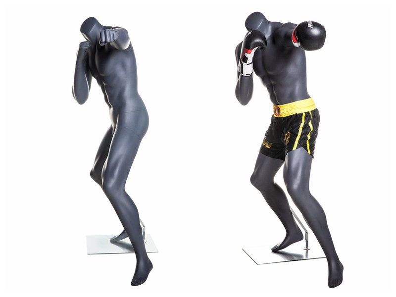 Floyd Mayweather, Matte Grey Boxing Male Mannequin MM-Boxing02