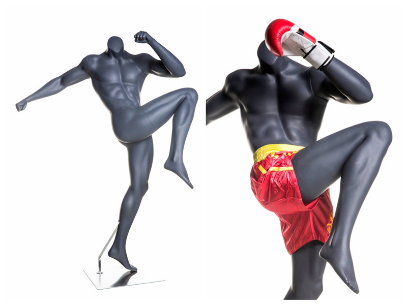 Floyd Mayweather, Matte Grey Boxing Male Mannequin MM-Boxing03