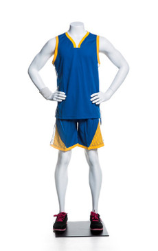Athletic Matte White Headless Boy Mannequin MM-HEF025