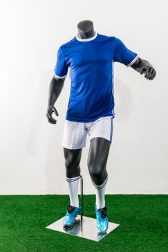 Soccer Player Male Dribbling Mannequin Matte Grey MM-TQ02