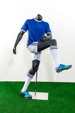 Soccer Player Male Shooting Pose Mannequin Matte Grey MM-TQ04