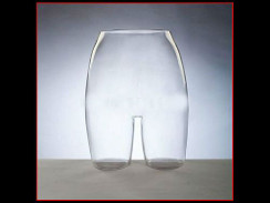 Clear Plastic Female Buttocks Form MM-PS-PC/F