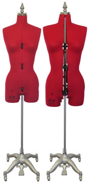 Adjustable Sewing Dress Forms (ADF6001, Red)