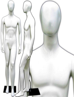 Rick, Matte White Abstract Egg Head Male Mannequin MM-145W