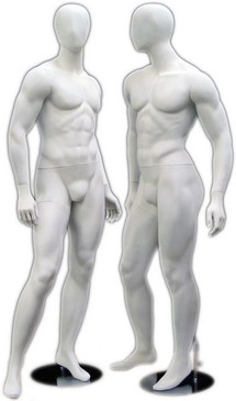 Matte White Abstract Egg Head Male Mannequin MM-169W