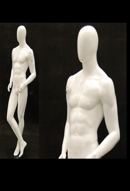 Ray J, Matte White Abstract Egg Head Male Mannequin MM-MIK02WEG