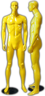 Gloss Yellow Abstract Male Mannequin with face features MM-333YEL