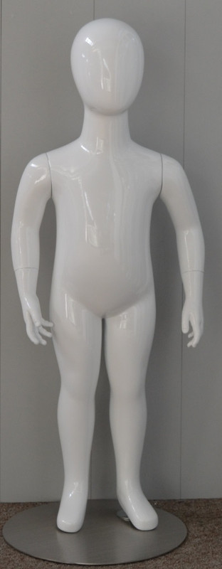Gloss White Abstract Egg Head Child Mannequin 2 Y.O. MM-CW2YEG