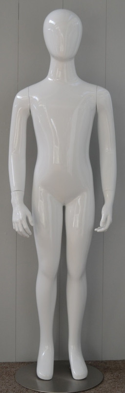 Gloss White Abstract Egg Head Child Mannequin 8 Y.O. MM-CW8YEG