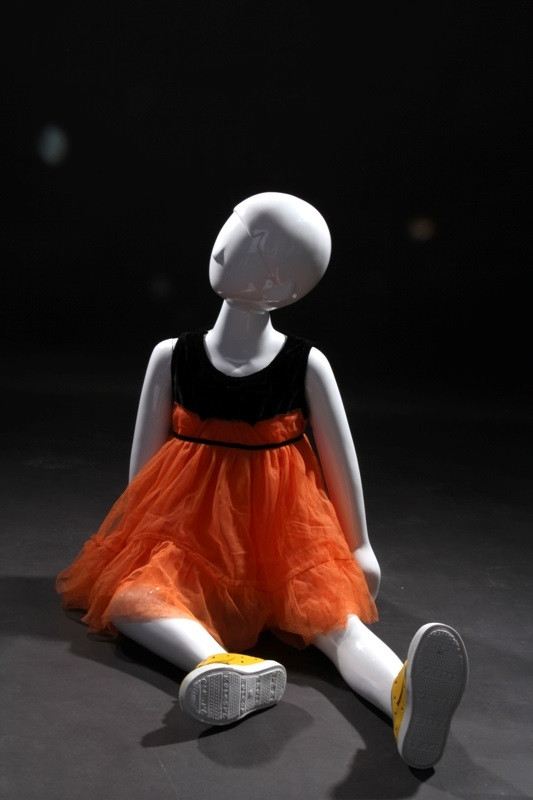 Gloss White Abstract Egg Head Child Mannequin MM-TM5-2