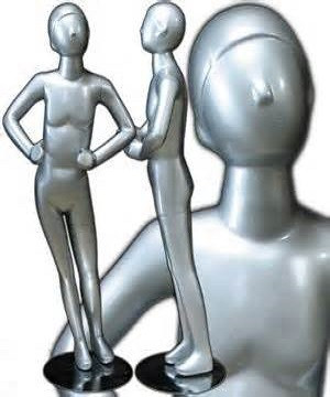 Silver Abstract Egg Head Child Mannequin MM-328