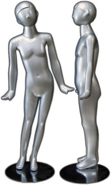 Silver Abstract Egg Head Child Mannequin MM-330