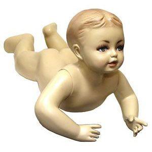 Crawling Baby Fleshtone Child Mannequin MM-037