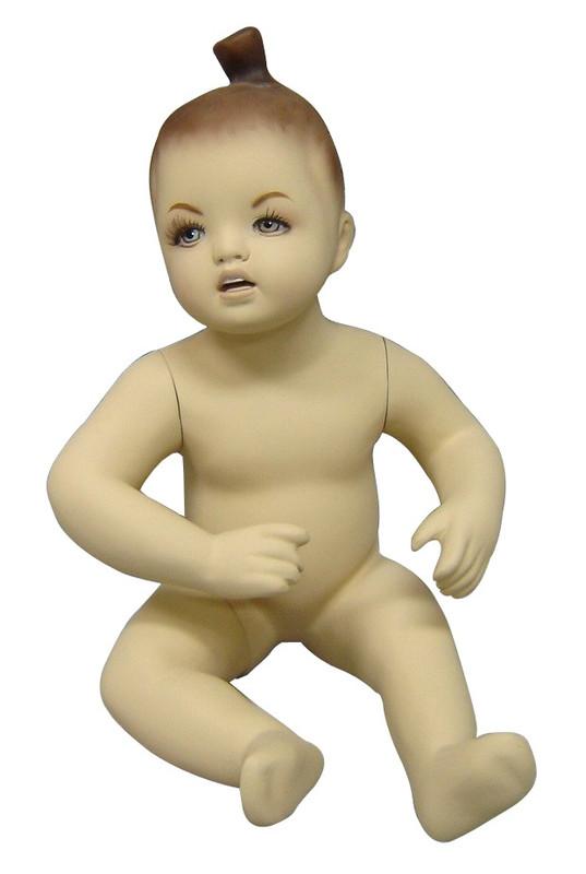 Seated Baby Girl Fleshtone Child Mannequin MM-203