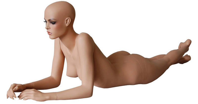 Reclining Female Mannequin Tan Skin Tone MM-FR12