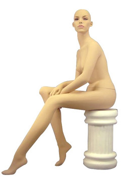 Seated Female Mannequin Fleshtone with Stool MM-9020