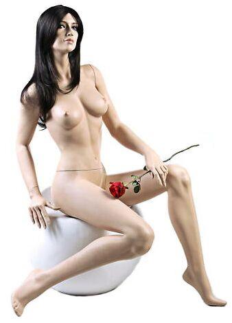 Seated Female Mannequin Fleshtone with Stool MM-ZARA5
