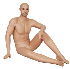 Seated Male Mannequin Fleshtone MM-GLM1