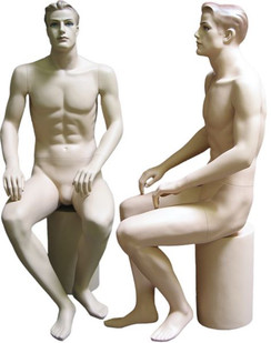 Seated Male Mannequin Fleshtone MM-110