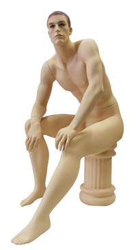 Seated Male Mannequin Fleshtone MM-KW12F