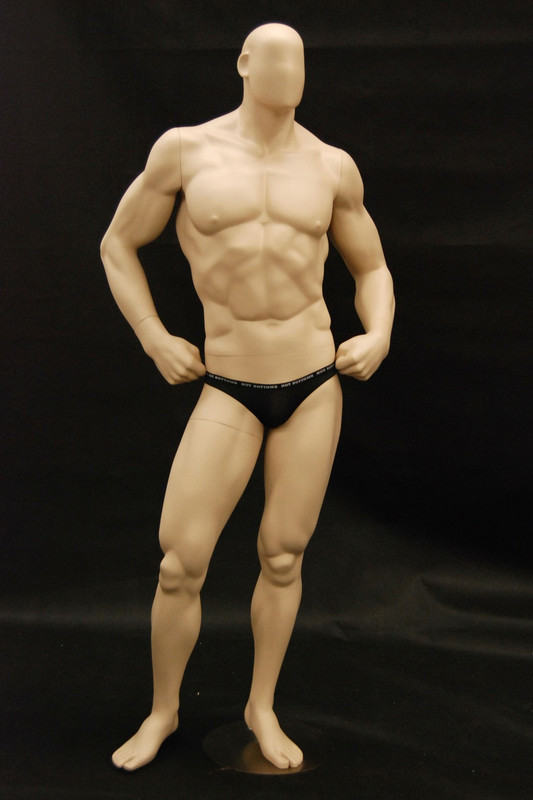 Bodybuilder Male Mannequin Fleshtone MM-MANF