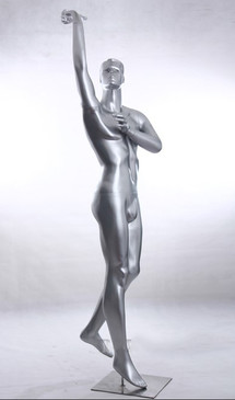 Sports Male Mannequin Basketball Player Silver MM-Y3
