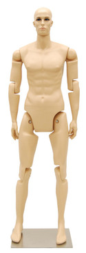 Flexible Male Mannequin Fleshtone MM-MFXF