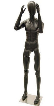 Flexible Male Mannequin Black MM-MFXBEG