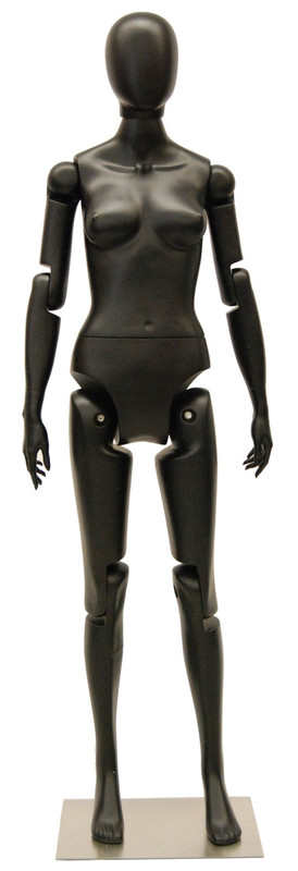 Flexible Female Mannequin Black MM-FFXBEG-3