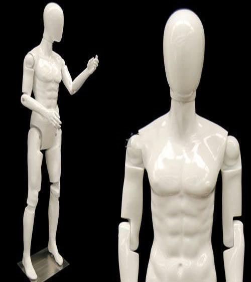 Flexible Male Mannequin Gloss White MM-MFXWEG-2