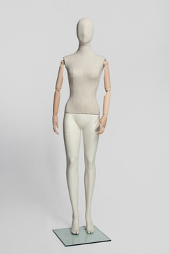 Flexible Female Mannequin with Wooden Arms MM-VIN11