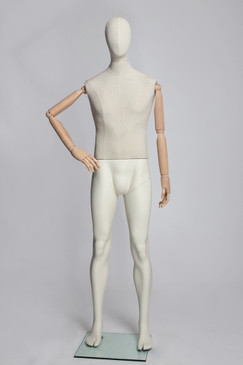 Flexible Male Mannequin with Wooden Arms MM-VIN21