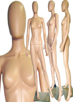 Plastic Female Mannequin Fleshtone PS-241