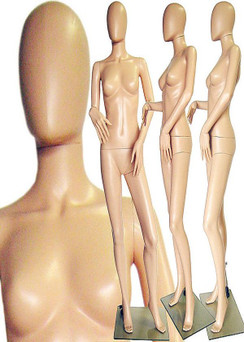 Plastic Female Mannequin Fleshtone PS-242