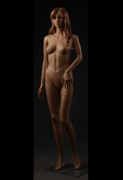Realistic Plastic Female Mannequin Fleshtone PS-G03