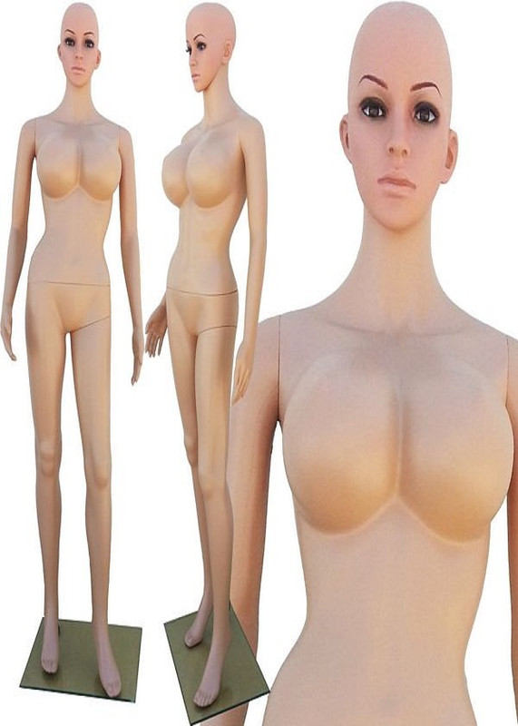 Realistic Plastic Busty Female Mannequin Fleshtone PS-250