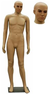 Realistic Plastic Male Mannequin Fleshtone PS-Robbie