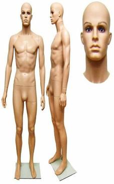 Realistic Plastic Male Mannequin Fleshtone PS-251A