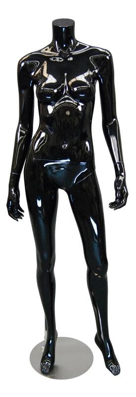Carmen 2, Fiberglass Headless Female Mannequin Gloss Black MM-A3BB