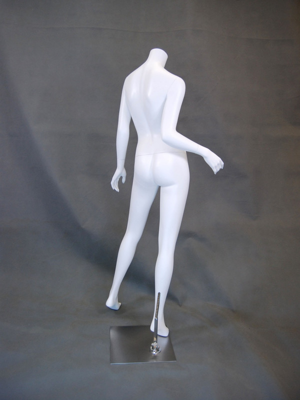 Carmen 1, Fiberglass Headless Female Mannequin Matte White MM-A2BW2-2