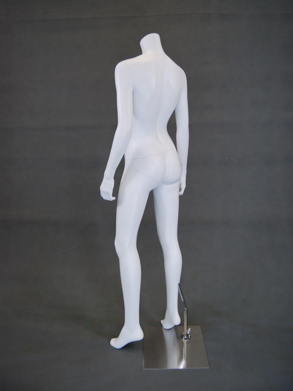 Carmen 2, Fiberglass Headless Female Mannequin Matte White MM-A3BW2-2