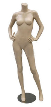 Carmen 3, Fiberglass Headless Female Mannequin Fleshtone MM-A4BF