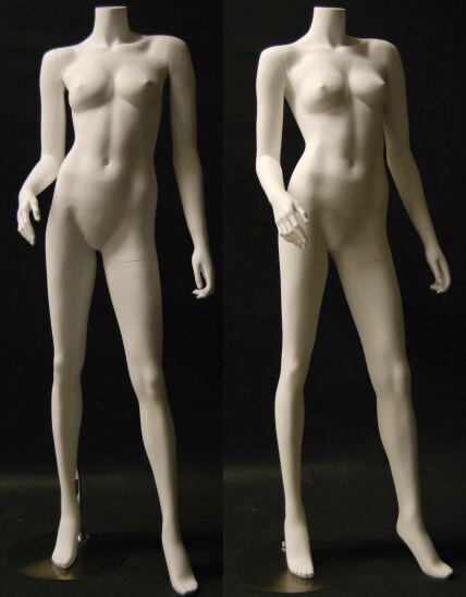 Fiberglass Headless Female Mannequin Matte White MM-A5BW2-2
