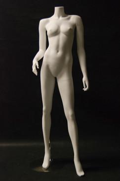 Fiberglass Headless Female Mannequin Matte White MM-A5BW2