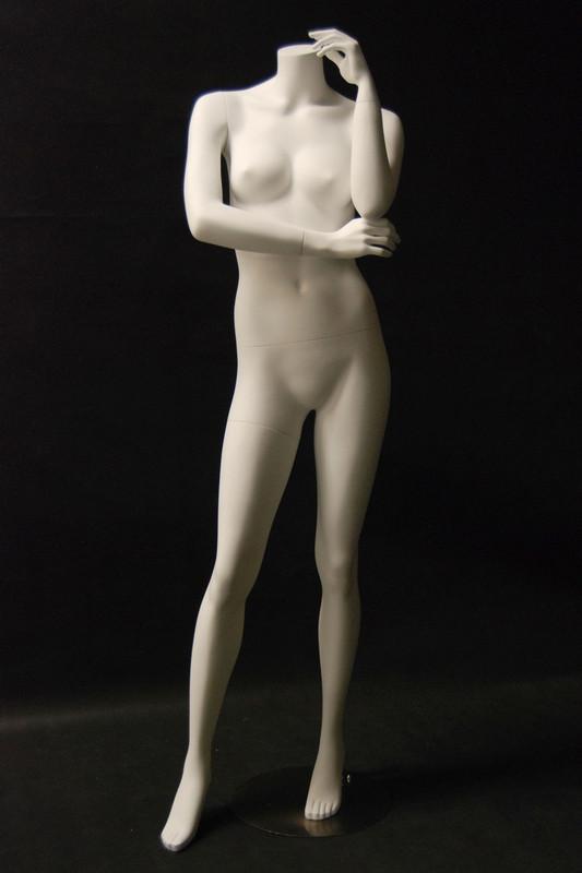 Fiberglass Headless Female Mannequin Matte White MM-A6BW2