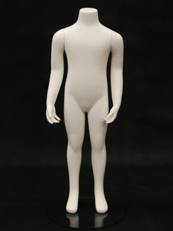 Fiberglass Headless Child Mannequin Matte White MM-CW4Y